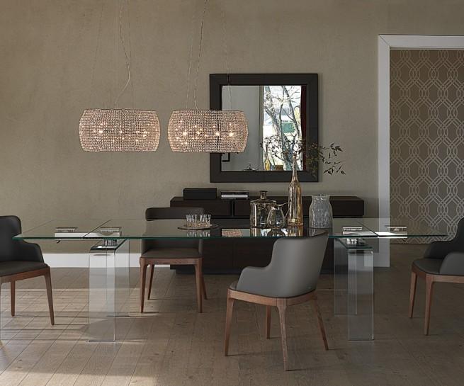 Meble cattelan italia abar - Sedie per tavolo cristallo ...